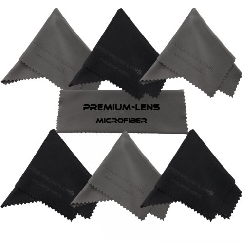 Premium-Lens® Microfiber Cleaning Cloth (7-Pack Blk/Grey)- Superior Cleaning Cloths