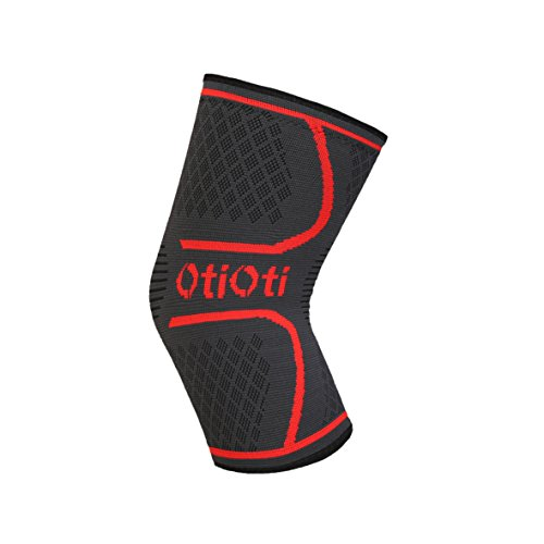 OTIOTI Knee Sleeves Support Brace for Running, Medium