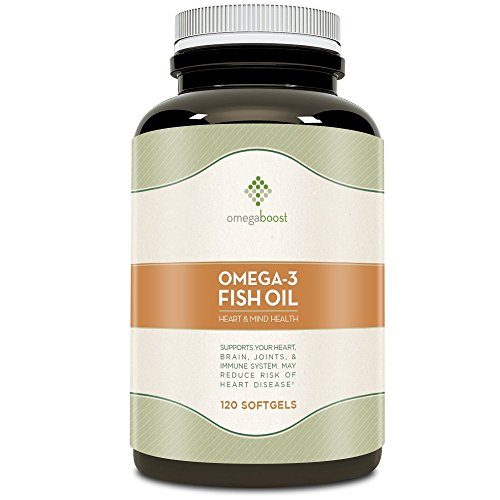 Omegaboost Omega-3 Fish Oil (120 Capsules - 1250mg -