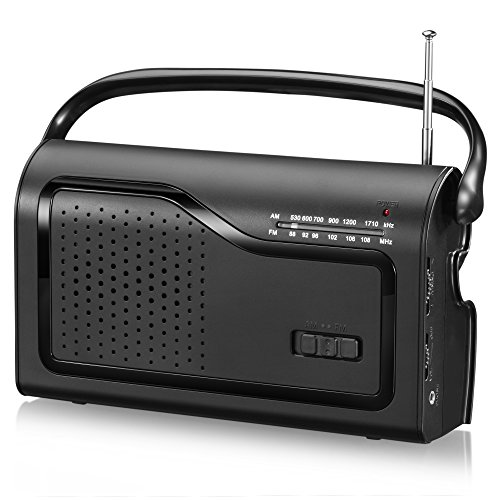OnLyee AM/FM Portable Radio (Black)