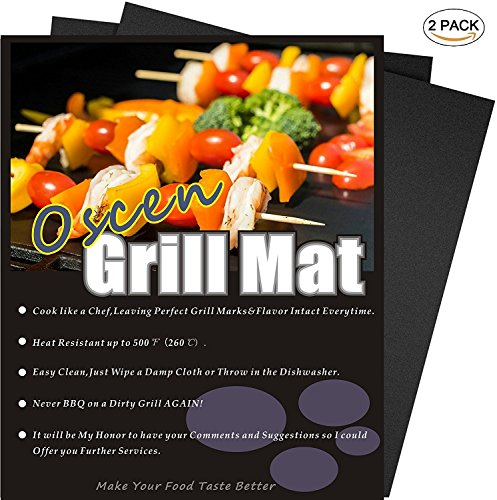 Professional Grill Mat - Set of 2 Non-stick BBQ