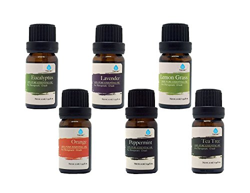 Pursonic 100% Pure Essential Aromatherapy Oils Gift Set-6 Pack