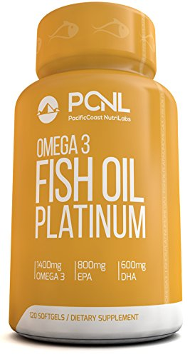 PacificCoast NutriLabs 2000mg Fish Oil, 1,400mg Omega 3, 800mg