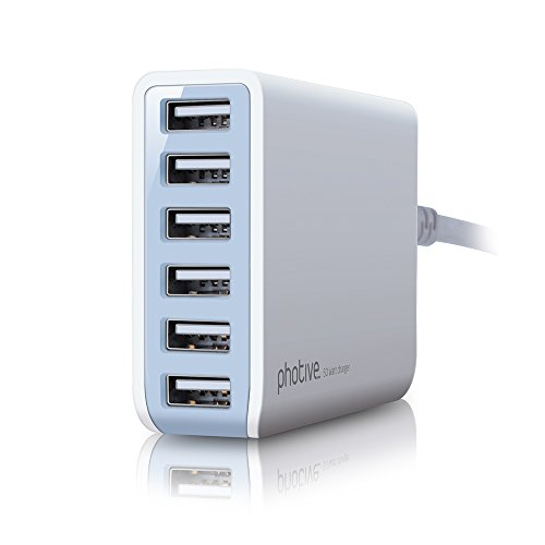 $24.95 Photive 60 Watt 6 Port USB Desktop Rapid Charger.