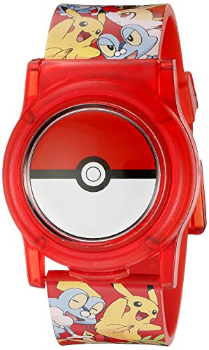 Pokemon Kids\' POK3026 Digital Display Analog Quartz Multi-Color Watch
