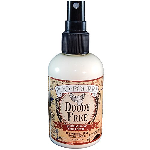 Poo-Pourri Before-You-Go Toilet Spray 4-Ounce Bottle, Doody Free Scent