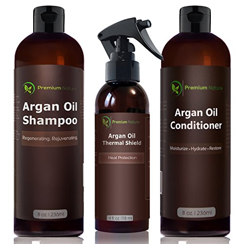 Argan Oil Hair Treatment Gift Set - 3 Piece:Argan