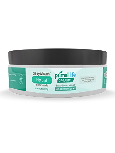 Dirty Mouth Organic Toothpowder 1 BEST RATED All Natural