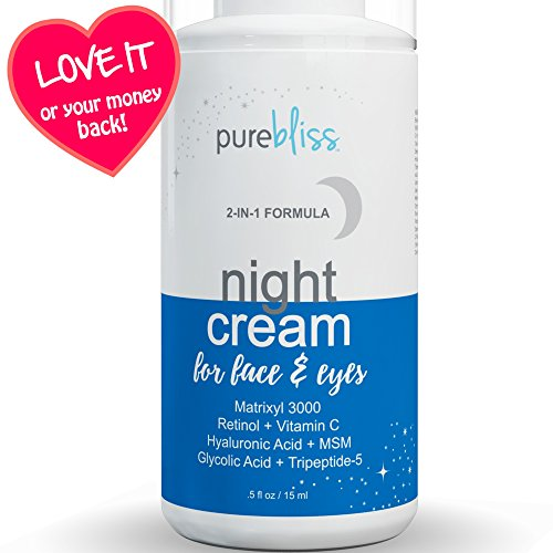 Night Cream Moisturizer for Face  Eyes with Vitamin