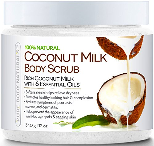Pure Body Naturals Coconut Milk Body Scrub with Dead