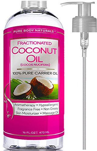 Premium Fractionated Coconut Oil 16 oz - Fine Coconut