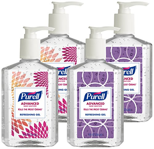 Purell 9652-04-ECDECO Advanced  Design Series Hand Sanitizer, 8
