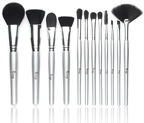Qivange Makeup Brushes, Synthetic Makeup Brush Set Foundation Blush