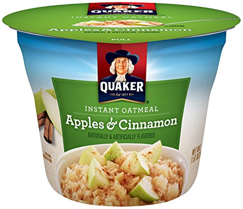 Quaker Instant Oatmeal Express Cups, Apples  Cinnamon, Breakfast