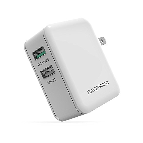 Quick Charge 3.0 RAVPower 30W Dual USB Wall Charger
