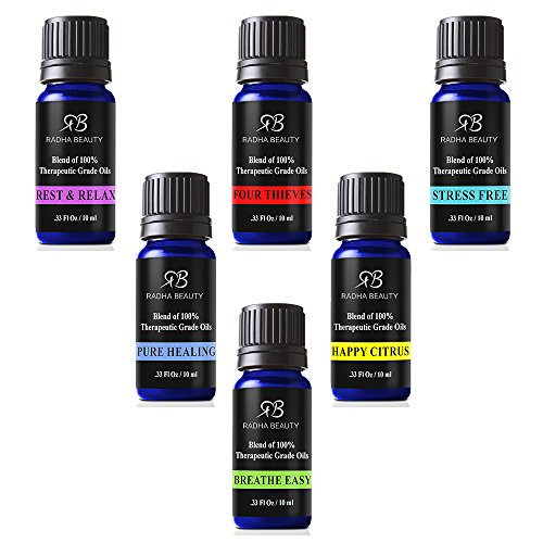 Essential Oils Blend set for Aromatherapy - Best 6