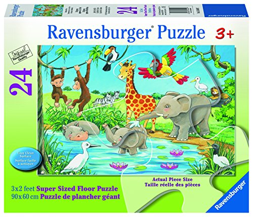 $11.99 Ravensburger Waterhole Fun Super Sized Floor Jigsaw Puzzle (24
