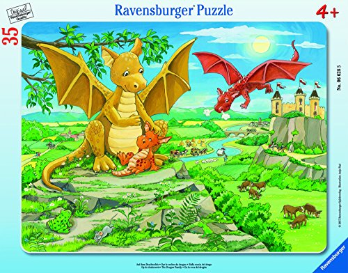 $6.99 Ravensburger The Dragon Family Frame Tray Jigsaw Puzzle (35