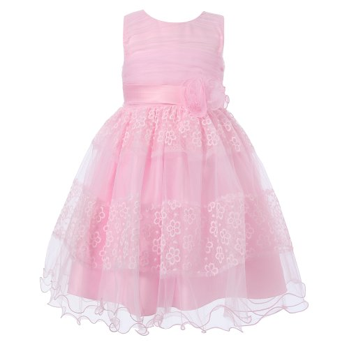 $18.99 Richie House Girls's Sundress with Layered Mesh Bottom RH1409-A-6/7-FBA