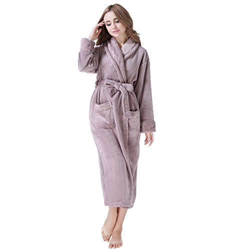 $29.99 Richie House Womens' Fleece Robe Rh1591-a-xl(20/22)-fba