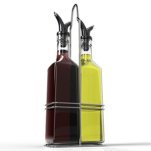 Royal Oil and Vinegar Bottle Set with Stainless Steel