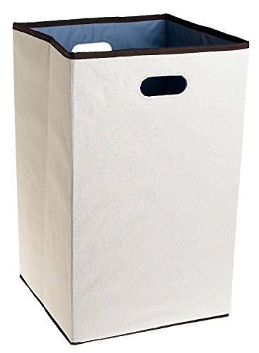 Rubbermaid Configurations Custom Closet Folding Laundry Hamper, Natural, 23-in.