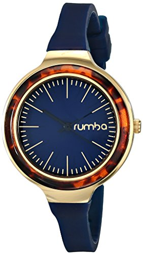 $45.00 RumbaTime Orchard Tortoise Midnight Blue Analog Display Japanese Quartz