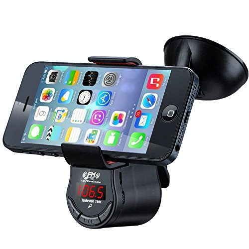RyuGo FM09 FM Transmitter With Phone Holder, Car MP3