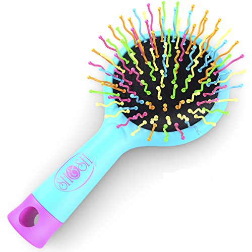 Detangling Brush with Mirror- No Tangle  Pain- Anti