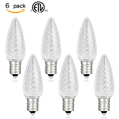 (6 Pack) SLZ LED C7 Night Light Bulbs, E12