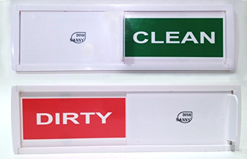 NEW DESIGN, The Original Dish Nanny Dishwasher Magnet CLEAN