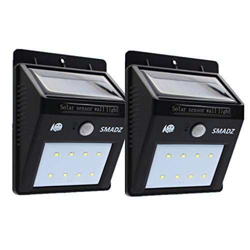 SMADZ SL12 Security Solar Motion Lights 8 LEDs for