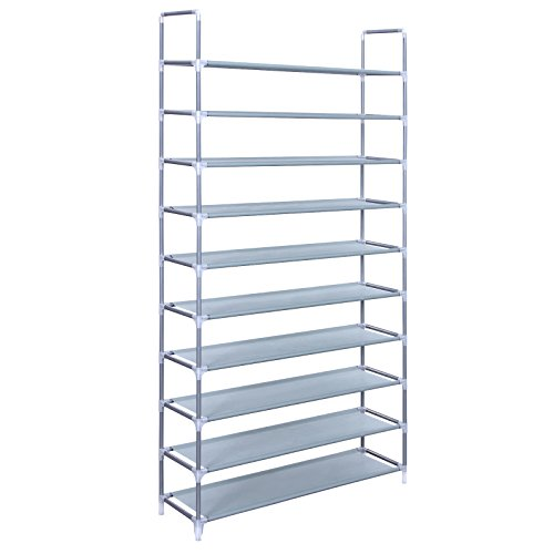 Songmics 10 Tiers Shoe Rack 50 Pairs Non-woven Fabric