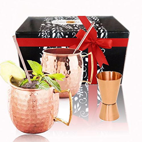 Spirit Valley Moscow Mule Copper Mugs and Straws with