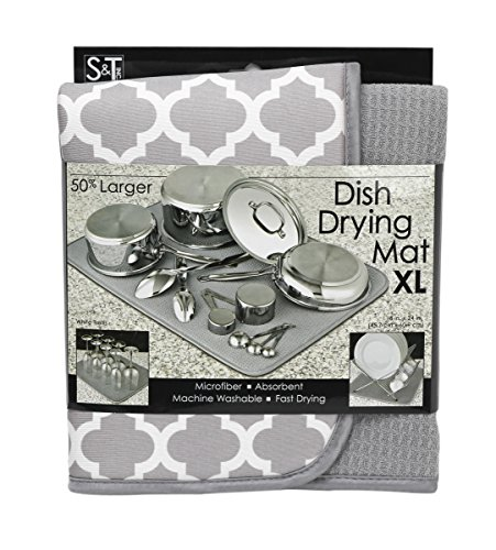 ST 497500 Microfiber Dish Drying Mat, X-Large, 18 by
