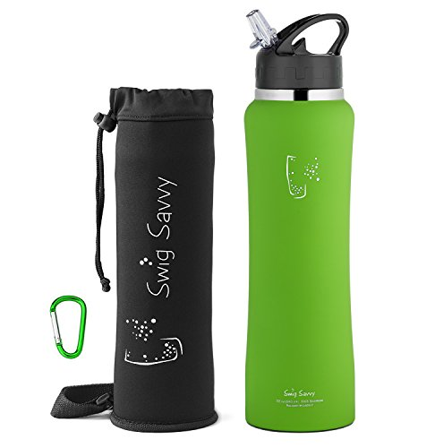 Swig Savvy's Stainless Steel Insulated Water Bottle Wide Mouth
