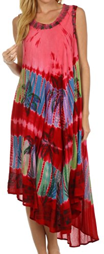 $28.99 Sakkas 10SE Tasanee Caftan Tank Dress / Cover Up