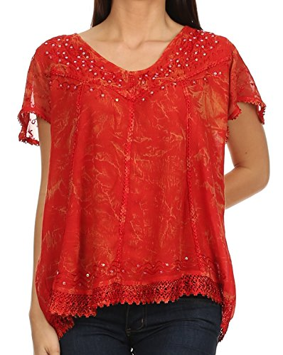 Sakkas 15774 - Hope Embroidery And Seqiun Accents Summer