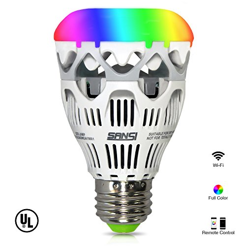 LOFTEK-SANSI 10W RGBW Light Bulbs, Wi-Fi Smart LED Bulbs