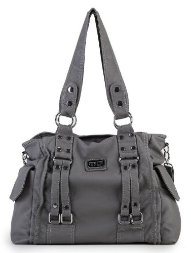 $29.99 Scarleton Squared Soft Shoulder Bag H148424 - Ash