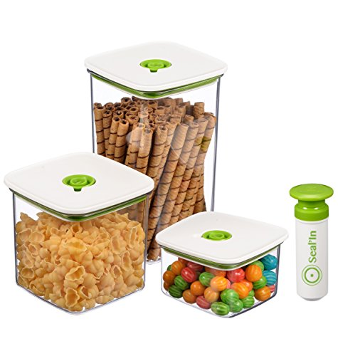 """Seal'In Food Storage Vacuum Containers with """"Patented Design"""" –"""