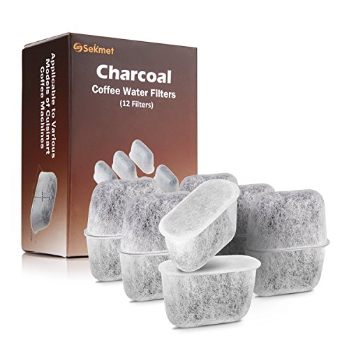 Sekmet Replacement Charcoal Water Filters for Cuisinart Coffee Makers