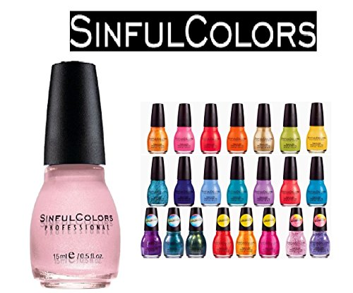 Lot of 10 Sinful Colors Finger Nail Polish Color