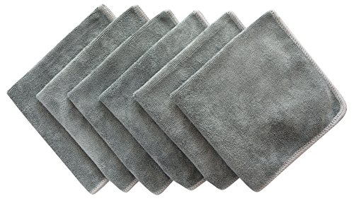 Sinland All-purpose Microfiber Cleaning Cloths Wiping Dusting Rags 12Inchx12Inch