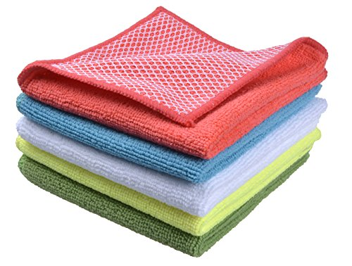 Sinland 5 color assorted Microfiber Dish Cloth Best Kitchen