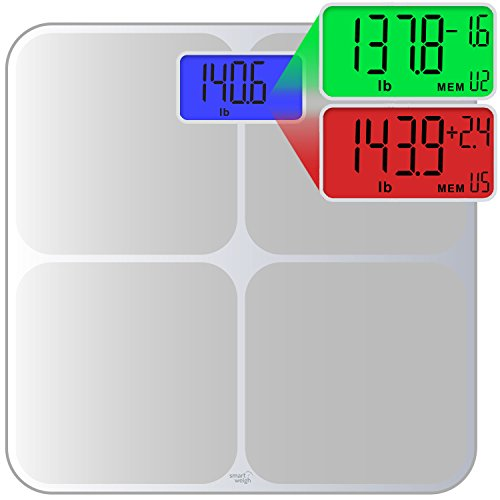 Smart Weigh Digital Body Weight Scale with Weight Tracking