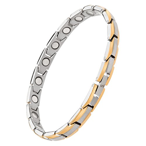 Elegant Womens Titanium Magnetic Therapy Bracelet Pain Relief for