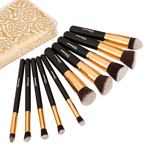 Soobest Professional Kabuki Makeup Brush Set with Carry Bag