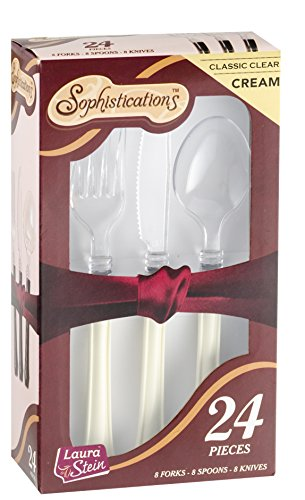 Sophistications 2 Tone Duet Cutlery Combo Box Ivory and