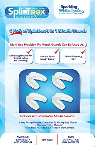 SplinTrex Multi Use Teeth Mouth Guards - 4 PACK